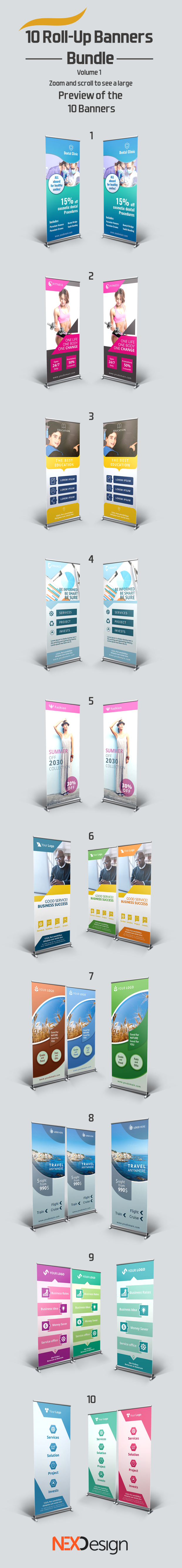 10 Roll-Up Banners Bundle