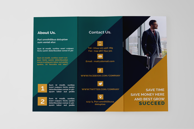 3 Fold 6 Pages Brochure Business Clean Colorful