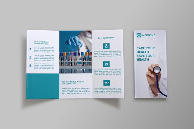 medicine tri fold brochure doc as group