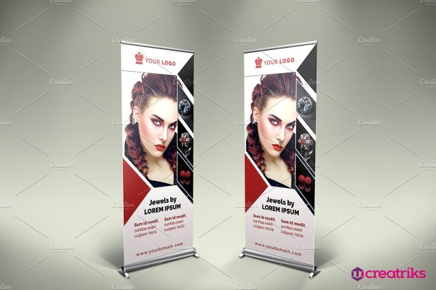 Jewelry Roll Up Banner