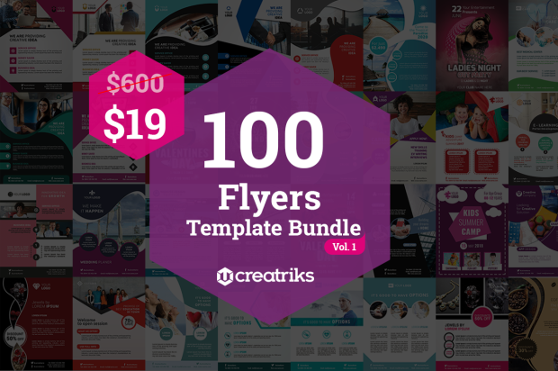 100 Flyers Template Bundel